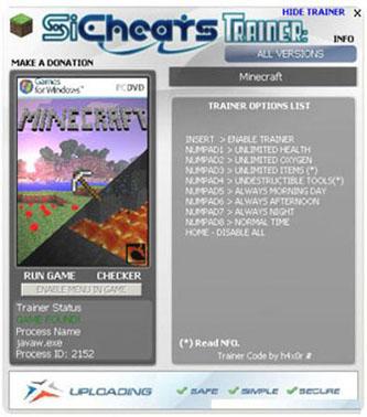 Скачать трейнер для minecraft 1.5.2 бесплатно